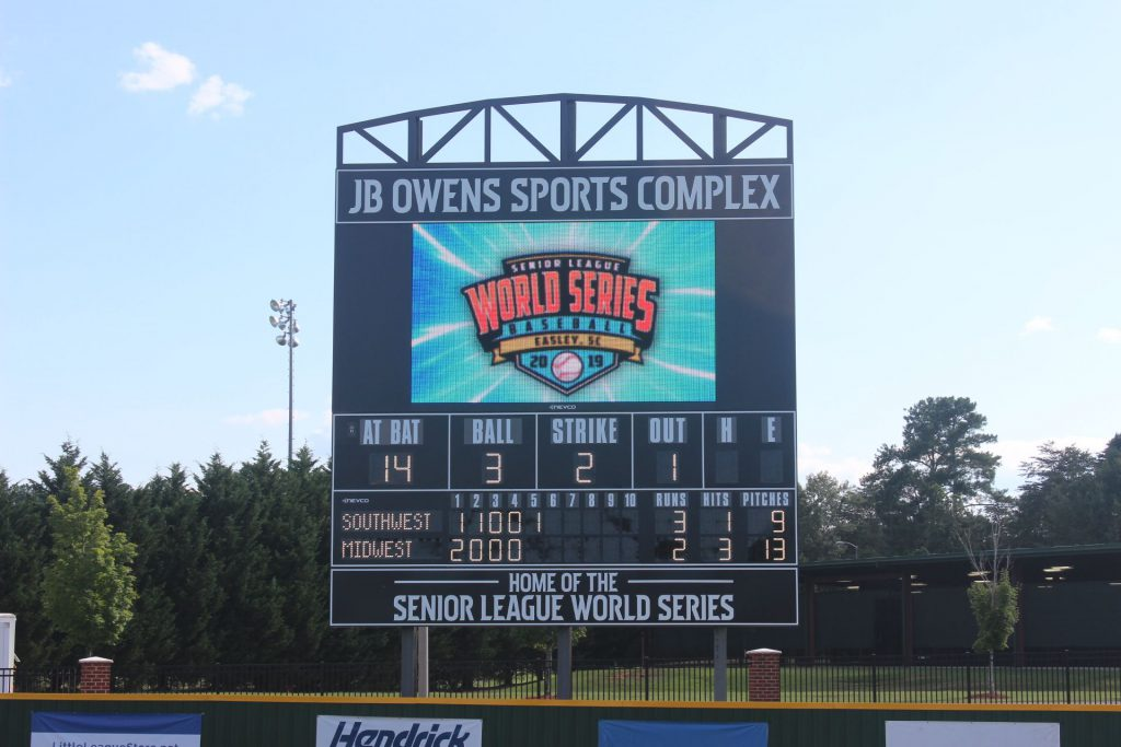 Senior League Baseball World Series Video Display and Scoreboard